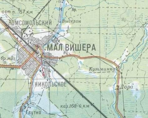 на Любытино (на карте – на