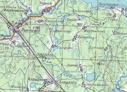 На карте, как мы видим, дороги