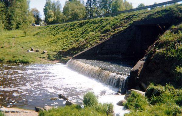 Плотина на месте мельницы