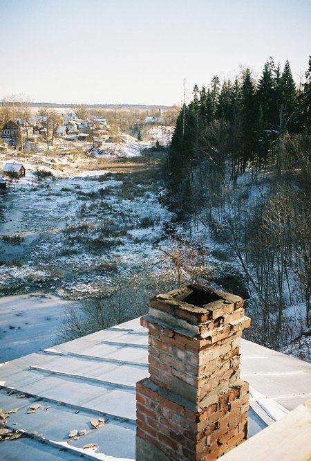 Шоссе трасса м 20 мост через речку