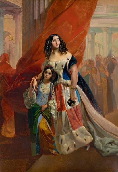 Портрет графини Ю. П. Самойловой, удаляющейся с бала с приемной дочерью Амацилией