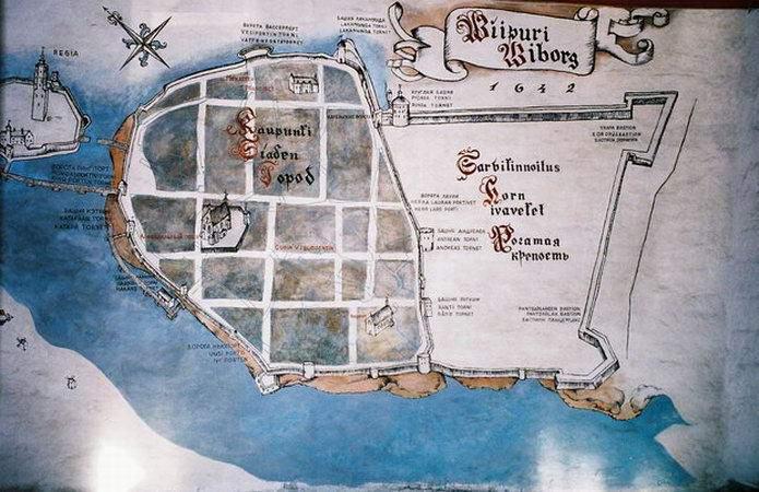 Карта города Выборга